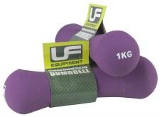 Urban Fitness Bone Dumbells 1 Kg Pair (Purple)