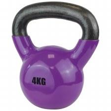 Urban Fitness Vinyl Coated Dumbell 4 Kg (Purple)