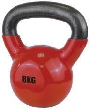 Urban Fitness Vinyl Coated Dumbell 8 Kg (Red)