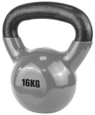 Urban Fitness Vinyl Coated Dumbell 16 Kg (Grey)