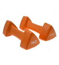 Vector X Triangular Vinyl Dumbell (Orange) 3kg Pair