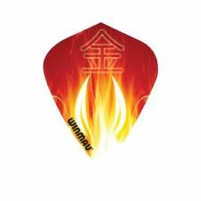 Winmau Kite Poly Oriental Flames (Orange White) Set of 3