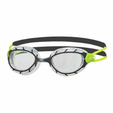 Zoggs Predator Goggles (Black Green Clear) Adults Regular