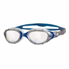 Zoggs Predator 3D Flex Goggles (Blue Silver Clear) Adults