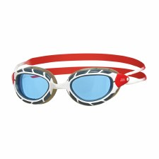 Zoggs Predator Goggles (White Red Blue Tint) Adults Regular