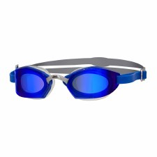 Zoggs Ultima Air Titanium Goggles (Blue Grey Blue Tinted Lens) Adults