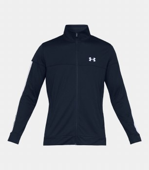 Under Armour Mens Sportstyle Track Jacket (Navy White) Small