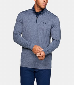 Under Armour Playoff 2.0 1/2 Zip (Navy Marl) Large