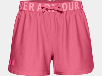 Under Armour Girls'Play Up Solid Shorts (Pink) Small Girls