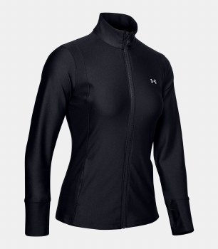 Under Armour Womens Sport Full Zip Jacket (Black) Large