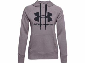Under Armour Womens  Rival Fleece Logo Hoodie (Purple Slate) Large