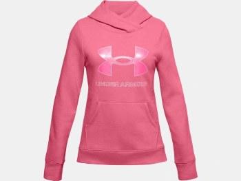 Under Armour Girls Rival Fleece Hoody (Pink) XL Girls