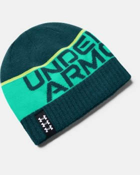Under Armour Junior Billboard Reversible Beanie (Green Multi)