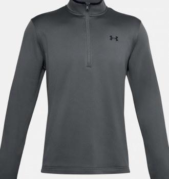 Under Armour Mens Armour Fleece® ½ Zip (Grey Black) S