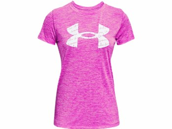 Under Armour Tech™ Twist Graphic Tee (Pink White) XS