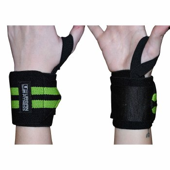 Urban Fitness Wrist Support Wraps (Black Lime)