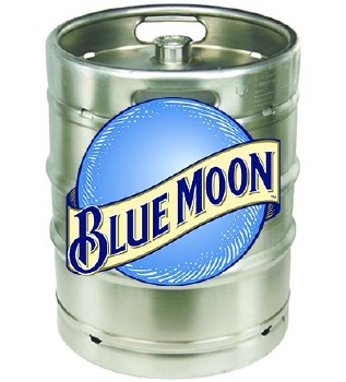 Blue Moon 1/2 Keg