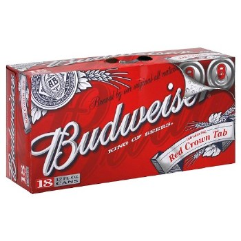 Budweiser 18pk 12oz Cans