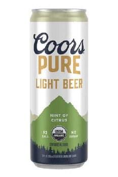 Coors Pure Citrus Organic 12pk 12oz Cans