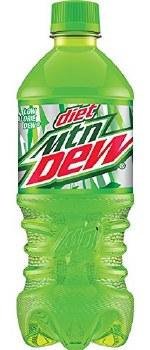 Diet Mountain Dew 20oz Plastic Bottle