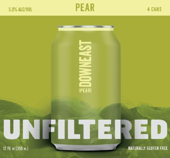 Downeast Pear Unfiltered Craft Cider 9pk 12oz Cans