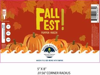 Middlecoast Fall Fest Pumpkin Marzen 4pk 16oz Cans