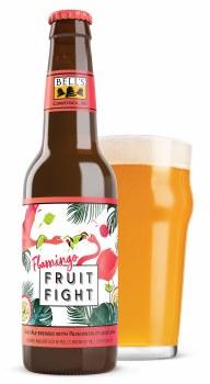 Bells Flamingo Fruit Fight Tequilla Barrel Aged Tart Ale with Passionfruit amd Lime 4pk 12oz Bottles