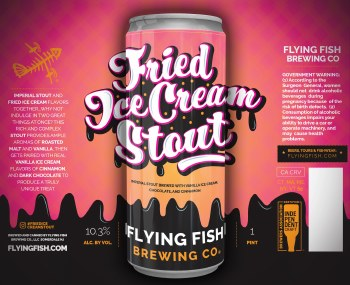 Flying Fish Fried Ice Cream Stout 4pk 16oz Cans