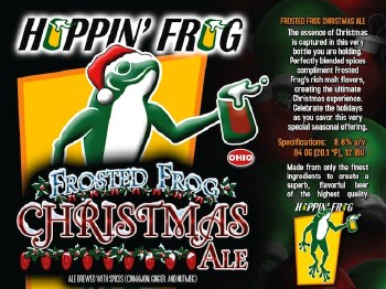 Hoppin Frog Frosted Frog Christmas Ale 4pk 12oz Cans