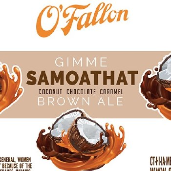 OFallon Gimme Samoathat Coconut Chocolate Caramel Brown Ale 4pk 16oz Cans