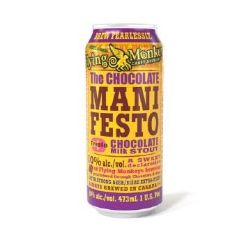 Flying Monkeys The Chocolate Manifesto Triple Chocolate Milk Stout 16oz Can