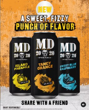 Mad Dog 2020 Island Pineapple Spiked Punch 6pk 16oz Cans