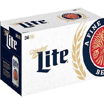 Miller Lite 36pk 12oz Cans