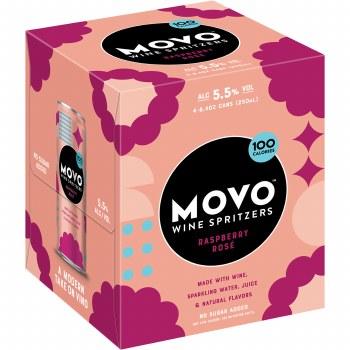 Movo Raspberry Rose Wine Spritzer 4pk 8.4oz Cans