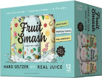 New Belgium Fruit Smash Hard Seltzer Variety 12pk 12oz Cans