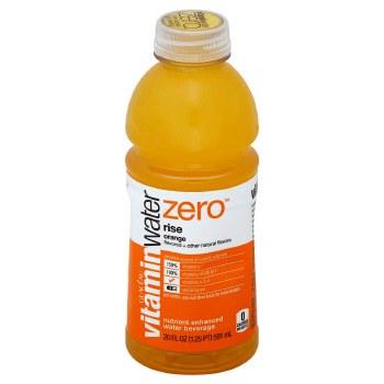 Vitamin Water Zero Orange 20oz Plastic Bottle
