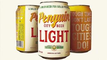 Penguin City Light American Lager 6pk 12oz Cans