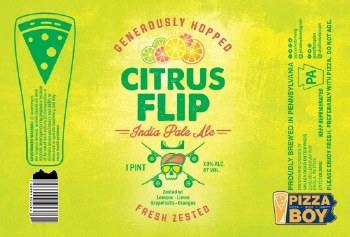 Pizza Boy Citrus Flip IPA 4pk 16oz Cans