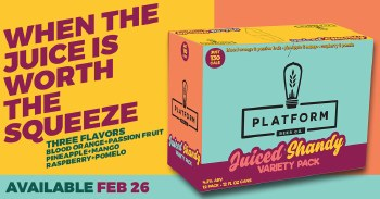 Platform Juiced Shandy Variety Pack 12pk 12oz Cans