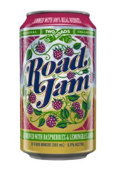 Two Roads Road Jam Raspberry Ale with Lemongrass 6pk 12oz Cans
