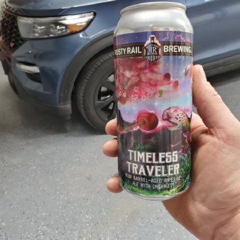 Rusty Rail Timeless Traveler Rum Barrel Aged Imperial Ale with Cherries 4pk 16oz Cans
