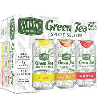 Saranac Green Tea Spiked Seltzer Variety 12pk 12oz Cans