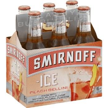 Smirnoff Peach Bellini 6pk 11.2oz Bottles