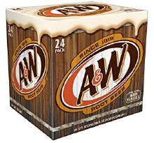 A&W Root Beer 24pk 12oz Cans