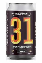 Duclaw 31 Pumpkin Spiced Lager 6pk 12oz Cans