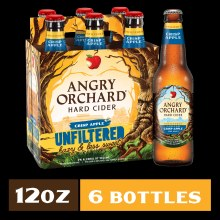 Angry Orchard Hazy and Less Sweet Unfiltered Hard Cider 6pk 12oz Bottles