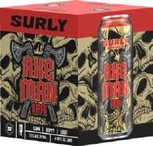 Surly AXE MAN Dank Hoppy Loud IPA 4pk 16oz Cans