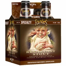 Founders Breakfast Double Chocolate Coffee Oatmeal Stout 4pk 12oz Bottles