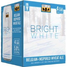 Bells Bright White Belgian Inspired Wheat Ale 4pk 16oz Cans