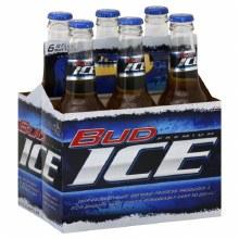 Bud Ice 6pk 12oz Bottles
